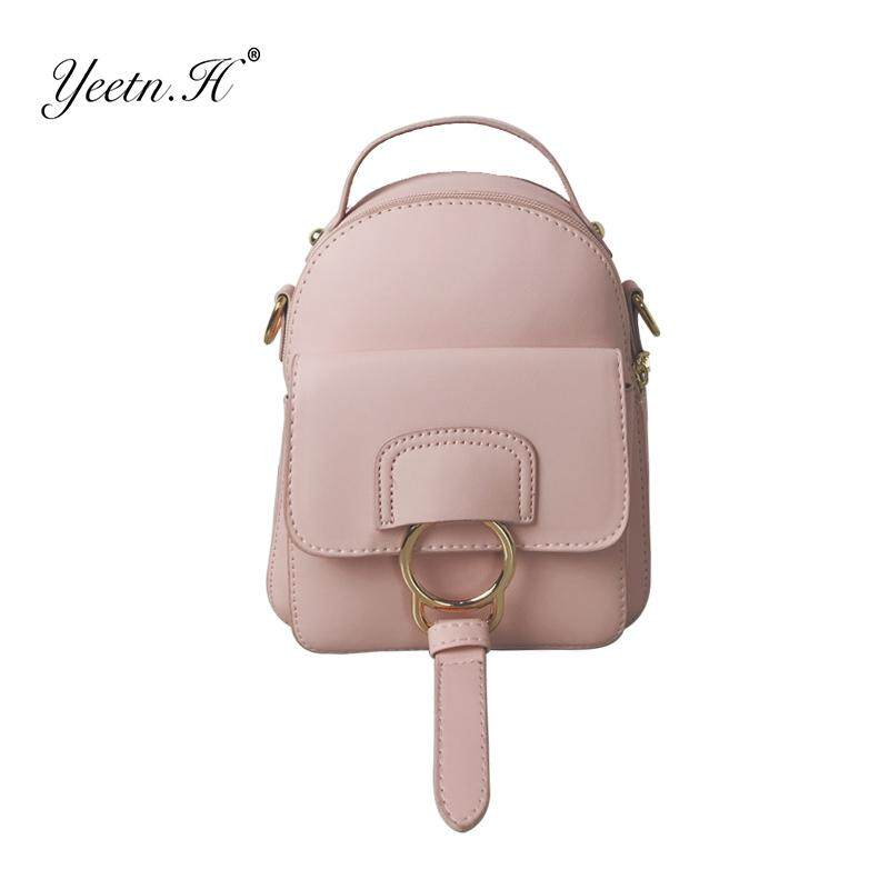 62ed565753 H Women Backpack Casual PU Leather ladies feminine backpack Candy color  school style solid