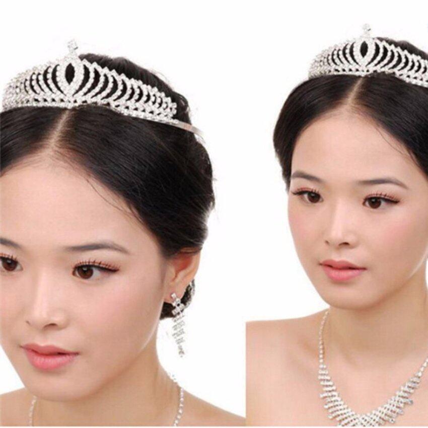 YingWei New Dinner Crown Headband Wedding Bride Rhinestones Hair Ornaments Accessories - intl
