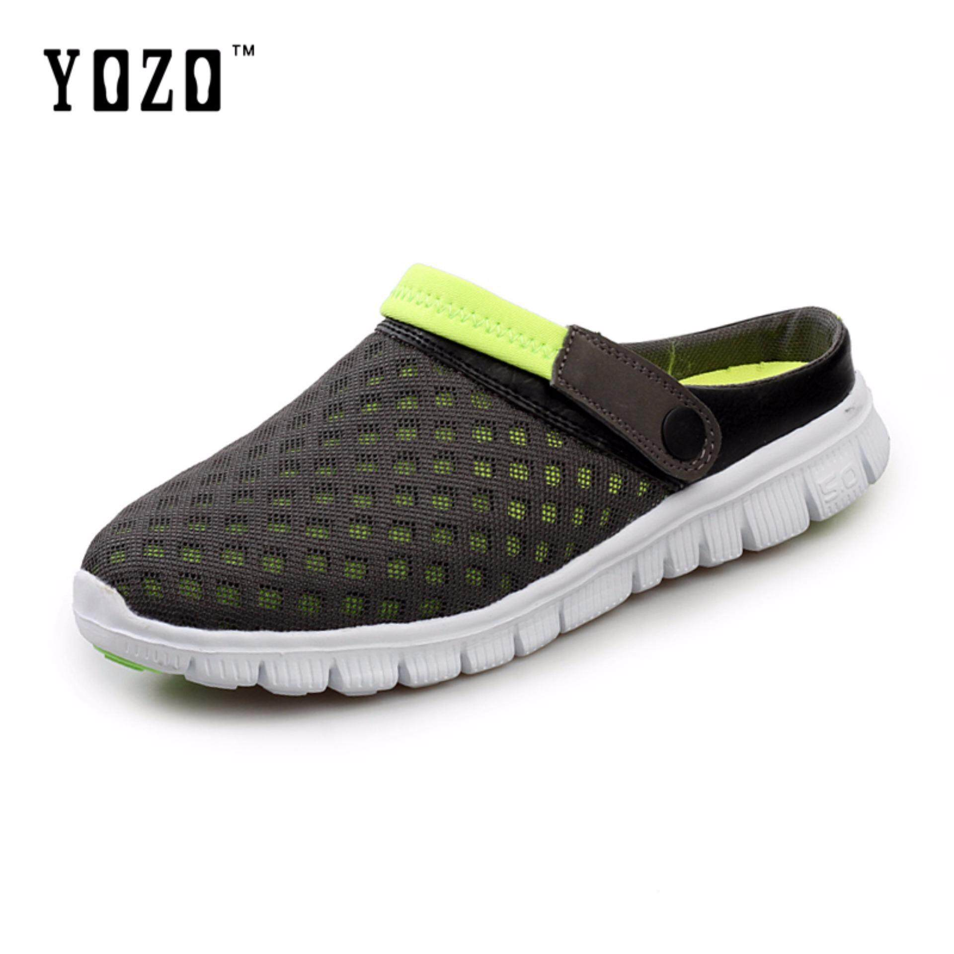 b922224f40bde YOZO Mens Summer Shoes Sandals 2018 New Breathable Men Slippers Mesh  Lighted Casual Shoes Outdoor Slip