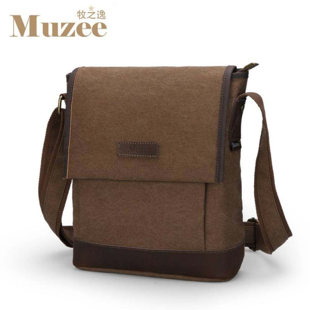 YSLMY TP Muzee Man Messenger Bags School Canvas Single Shoulder Bagscrossbody Bag untuk Traveling Me_8899D-