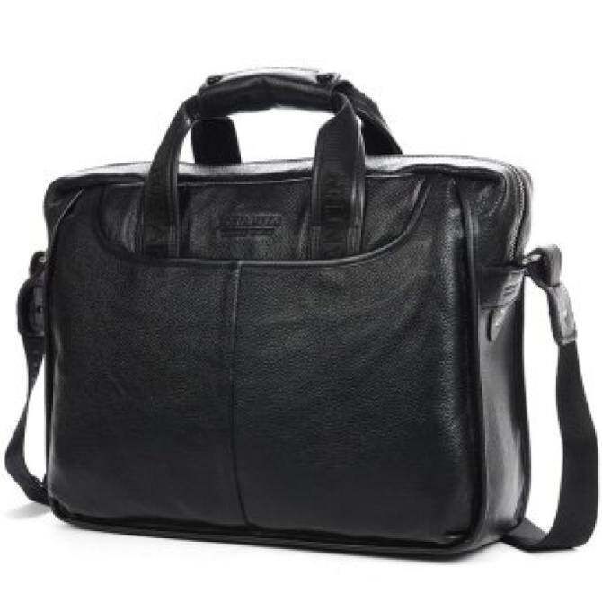 YSLMY Bostanten Mens Genuine Cowhide leather Formal bag Business