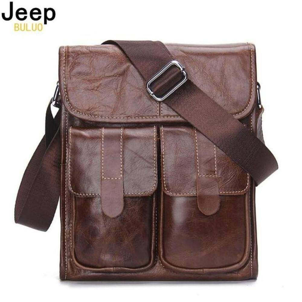 Yslmy Buluo Jeep Kulit Asli Pria Tas Fashion Merek Desain Handbagsshoulder Vintage Retro Tas Sapi Pria
