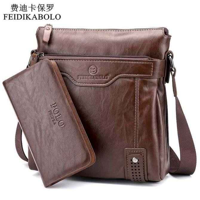 YSLMY Zhouda Men PU Leather Shoulder Business Messenger Bag (Black)