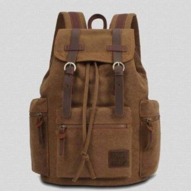 Man bag YSLMY New Style Designer Men Brown Washed Real Leather Canvas  Backpacks Women School Bags 7c9f854bf5