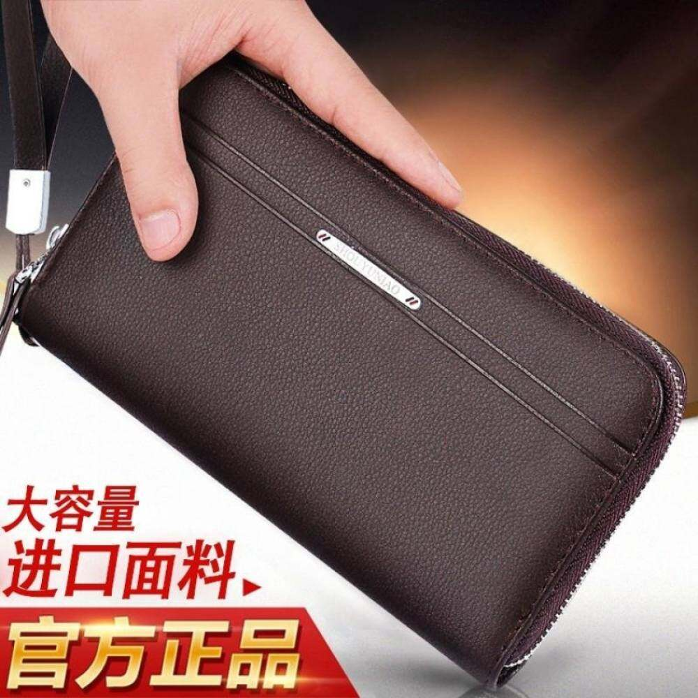 6d766677db YSLMY Men Wallet Leather Vintage Purses High Quality Money Bag Credit Card  holders New Dollar Bill