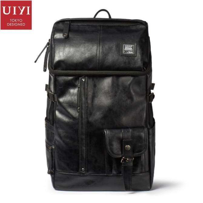 5bc10e93ff48 YSLMY UIYI Original Design Travel Men Laptop Backpack High-Capacity PU  Leather Knapsack Fashion Korea