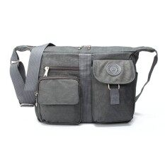 b1f4afc3689 YSLMY Women men Casual Shoulder Bags Handbag Travel Bag Messenger Cross  Body Nylon Bags Grey
