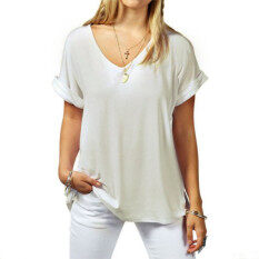 d6d3a317cc3 ZANZEA Fashion New Women s Cotton T-Shirts Ladies Summer Short Sleeve V-neck  Tee