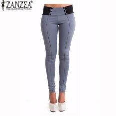 3bdb325ace ZANZEA 2017 Autumn Casual Slim Fitted Women Skinny Pants Pencil Leggings  Mid Waist Ankle-length