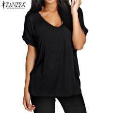 Zanzea Fashion Summer T Shirt Women New Short Sleeve Loose Casual Tops Tees  Plus Size V d638d56c3