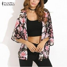 5a2c6f0b9fd ZANZEA Summer Womens Blusas Casual Loose Chiffon Kimono Tops Vintage Floral Printed  Cardigan Blouses Shirts Plus