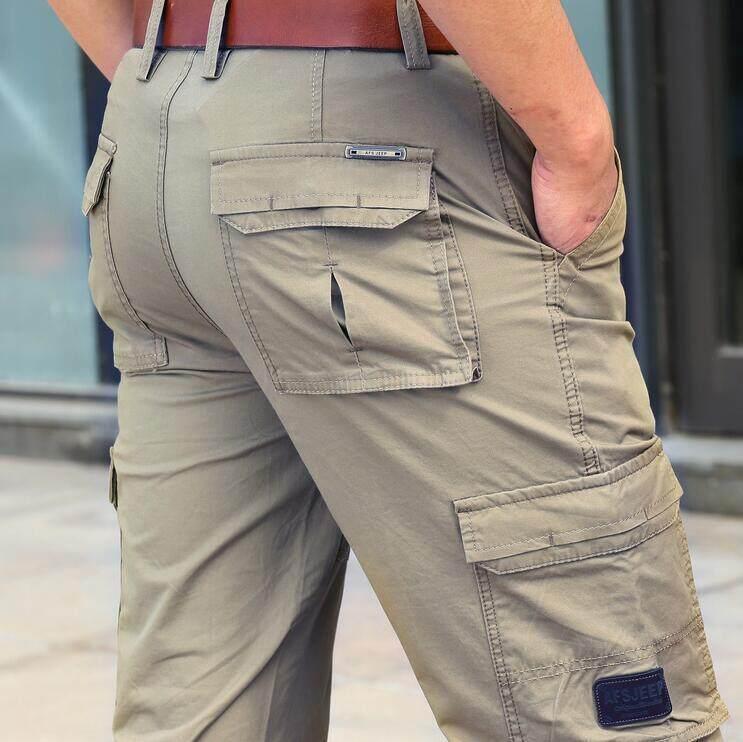 Zhan Di Ji Pu Mens Casual Loose Straight Multi-Pocket Trousers Plus Size 30-42 - Intl By Cool Cool.