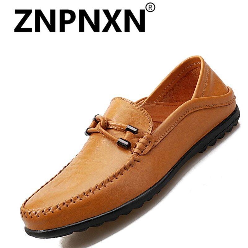 8f4437be9b0 ZNPNXN Fashion Leather Slip On Men Driving Moccasins Loafers Casual Shoes