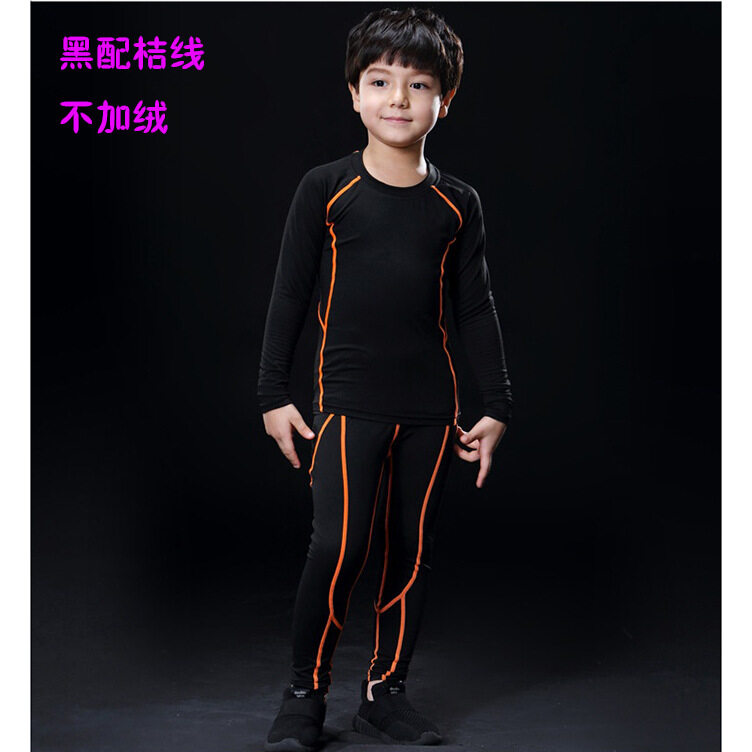 Basketball Jersey Gym Leggings Sets Sports Tight Fitness Kids Football Kits Sportswear Set Running Tops Pants For Boys And Girls By Nuopuxun.