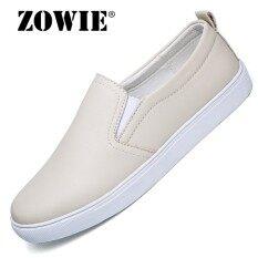 Zowie Wanita Leisure Kulit Domba Sepatu Loafer 2018 Musim Semi Baru Tidak Sandal Tahan Wanita Sepatu Carrefour