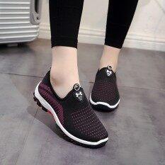 Zr Sepatu Wanita Musim Dingin Anti-Skid Sepatu Pedal All-Match Sepatu Datar Korea Sneaker Dengan Hangat Kasmir Tide By Zhan Rong.