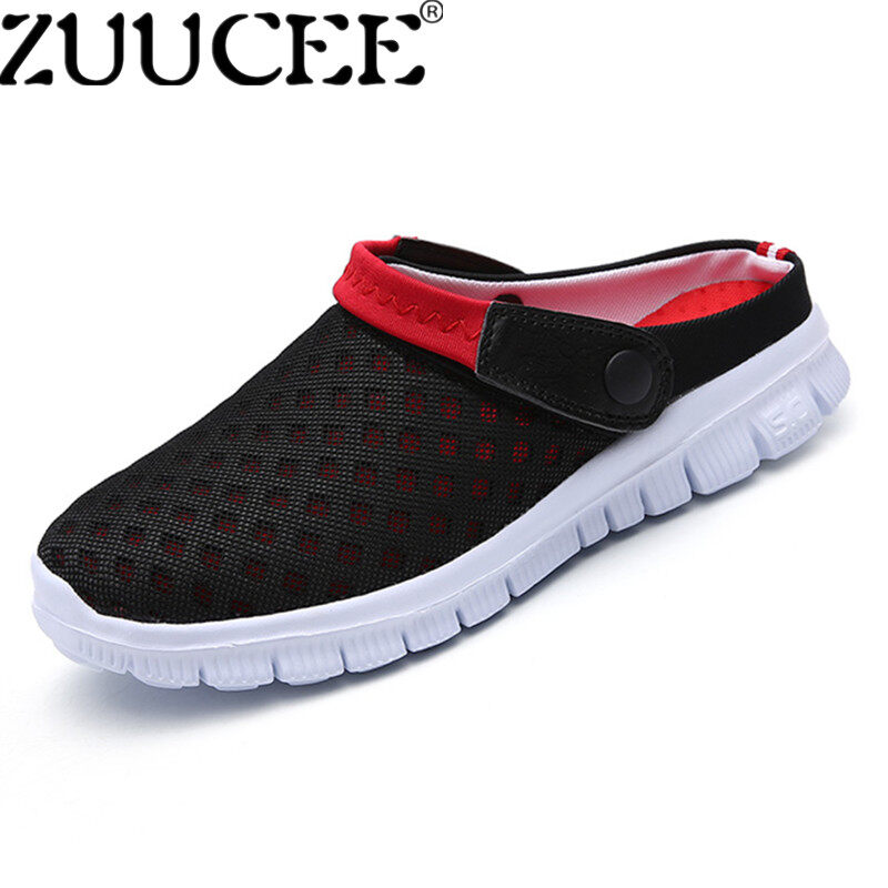 Zuucee Fashion Big Size Slippers Lovers Sandals Breathable Beach Shoes Slip Ons Shoes (Red) Intl Lowest Price