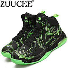 a79bdf90ce76 ZUUCEE Women Fashion Outdoor Sports Basketball Shoes Lovers Running  High-top(black green)