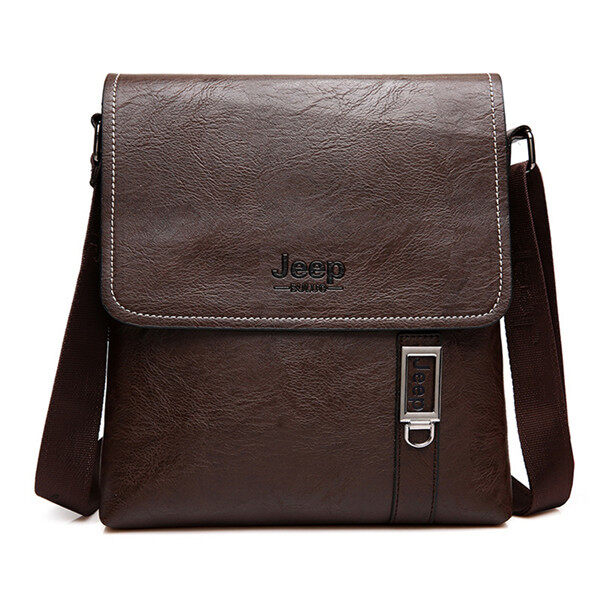 59094d2527 ZZOOI JEEP Brand Men Briefcase Bags Large New Business High Quality Leather  Man Shoulder Crossbody Bag
