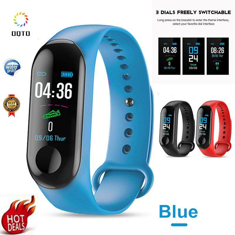 OQTO M3 Smart Bracelet Remote Camera Control 0 96 Inch Touch Screen Color  Fitness Tracker IP65 Waterproof M3 Smart Bracelet for IOS Android Millet  For