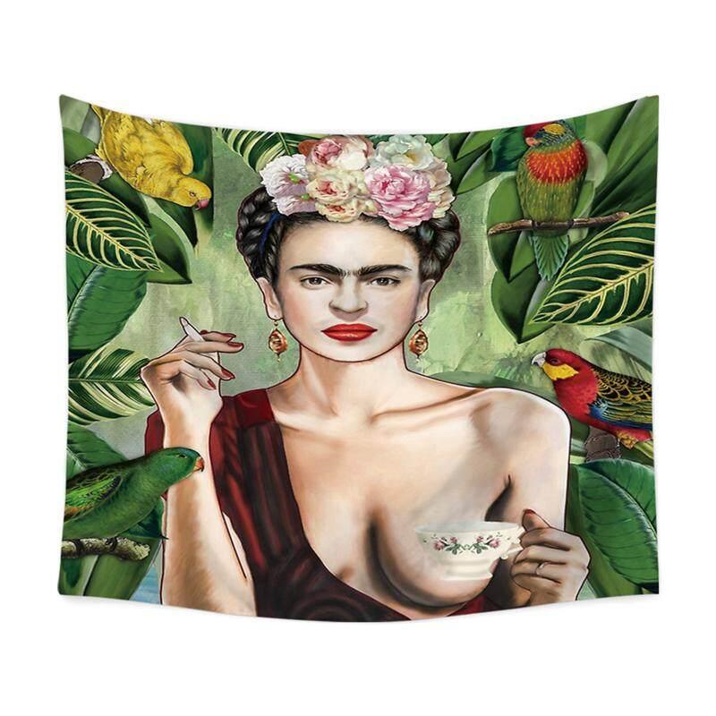 จิตรกร Frida. Kahlo พรมอเนกประสงค์พรมติดผนังผ้าเช็ดตัวชายหาด 130 ซม. X 150 ซม. By 7411 Actume Fashion.