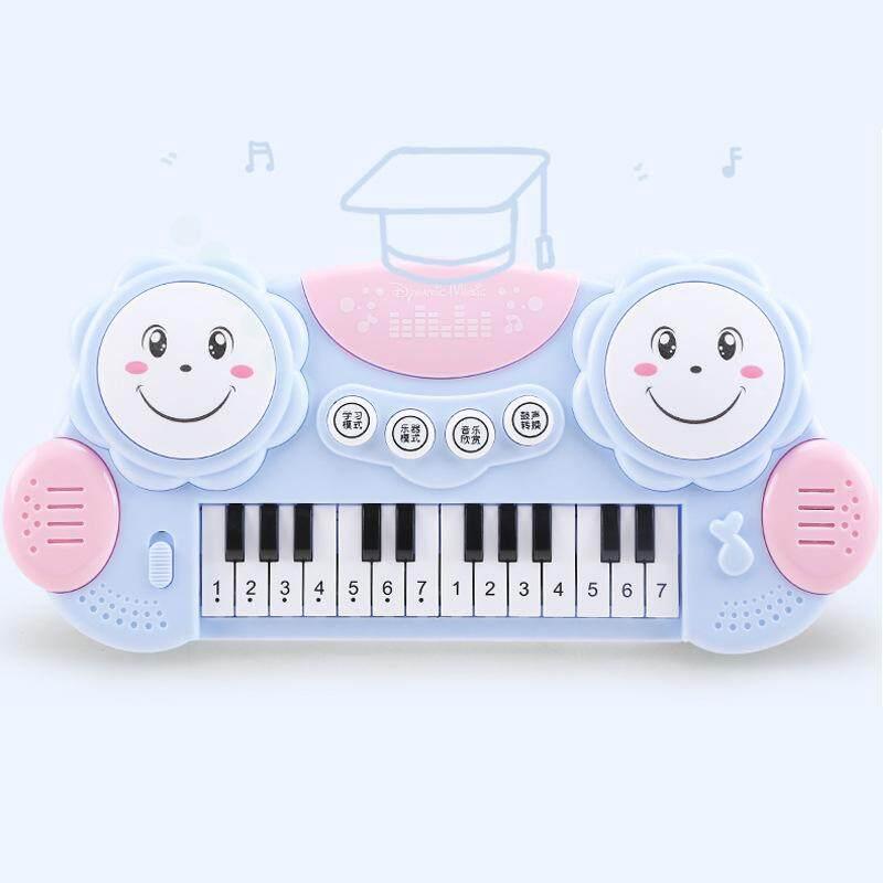Anak-Anak Alat Musik Mainan Kartun Makaron 14-Kunci Piano Elektronik Drum Untuk Anak-Anak By Devo Ting.