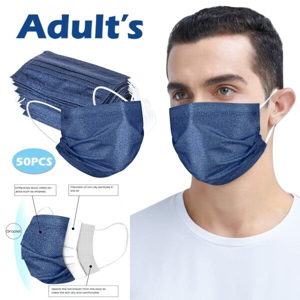 Buy CCAP Ready Stock Air Purifying Face Face Cover Cover 3 Layer Mouth Filter Face Cover 50PCS Singapore