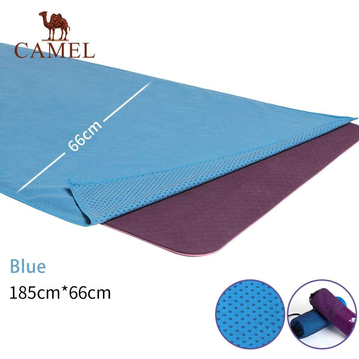 Bảng giá Camel sweat-absorb yoga mats towel with bag for men and women widened long wet Non-slip double-sided velvet towel sports fitness blanket sweat towel