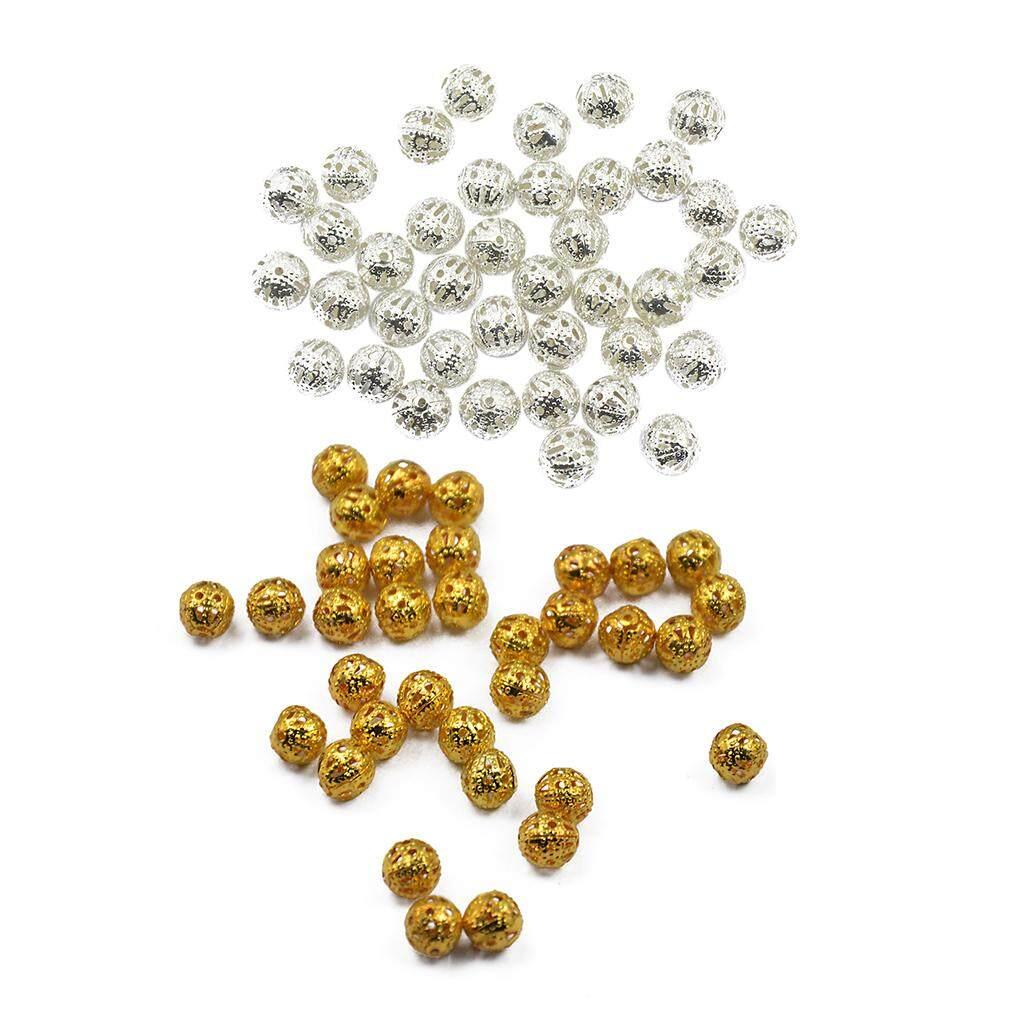 200pcs bronze metal hellow charm beads jewellery findings 8mm