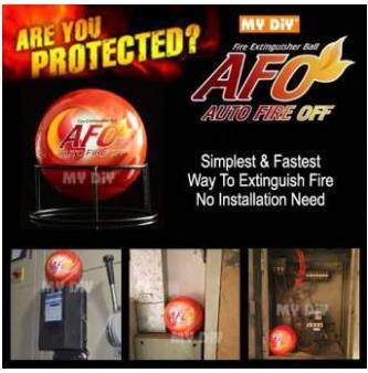 Diyhardwarestation - Afo Automatic Fire Ball, Abc Fire Extinguisher, Fire Suppression Device, Fire Safety Product With Sign Must Buy Item!!! / Offer Item / Value Buy By Diy Hardware Station Sdn Bhd.