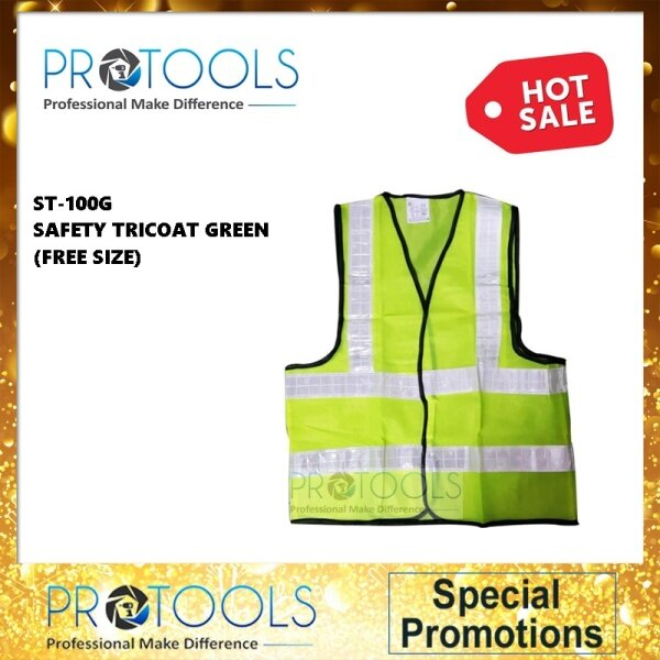 PROTOOLS ST-100G SAFETY TRICOAT (GREEN) / SAFETY VEST (GREEN) (FREE SIZE)