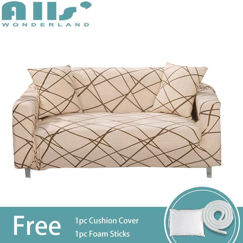 【sofa cover】Fit for Sofa size 90-135cm  Covers for Corner Sofa Living Room Universal Elastic L Shaped Sofa Cover Colorful Cartoon Sofa Cover 1PC