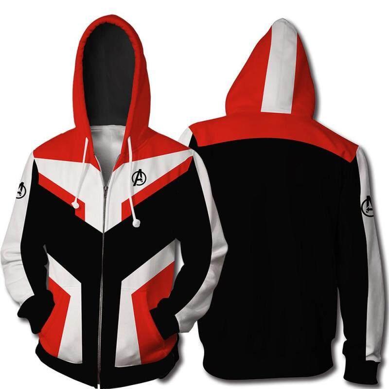 7f5a70907740 The Avengers 4 Endgame Quantum Realm Jacket Superhero 3D Print Jacket  Hooded Zipper Superhero Cosplay Jacket