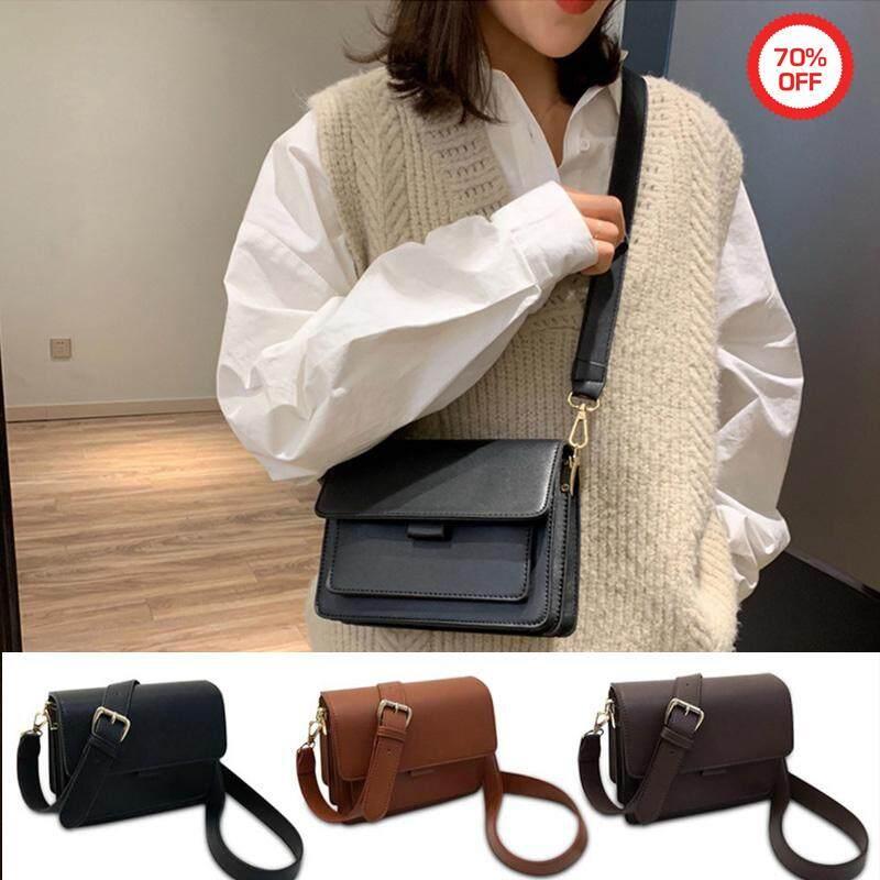 Aolvo Women Vintage Faux Leather Messenger Shoulder Satchel Weekender Fashion Bag PU Leahter Bag For Women