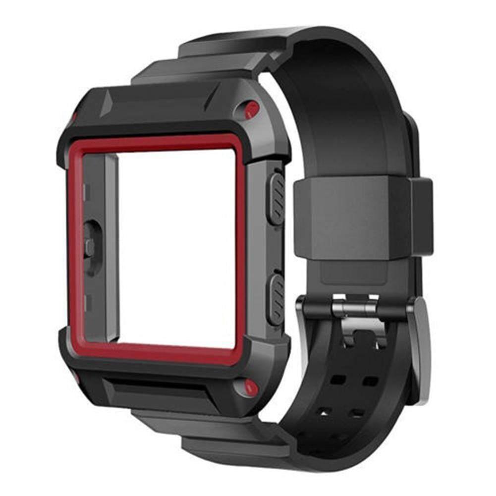 Chắc chắn bảo vệ Ốp lưng Silicone cổ tay ban nhạc dành cho Fitbit Blaze đồng hồ