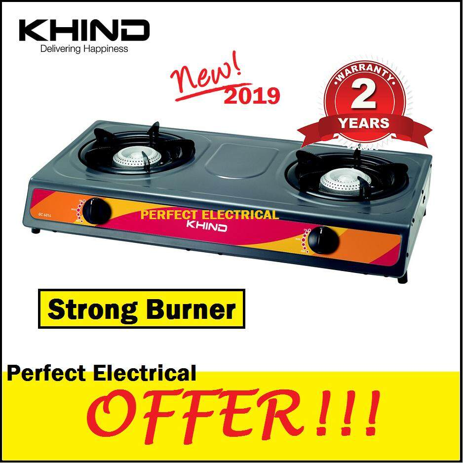 Khind 2 Burner Gas Stove GC6014 Table Top Double Cooker better than ELBA / FABER / PENSONIC / MILUX / CORNELL / MORGAN