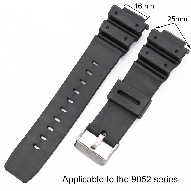 Watchband Silicone Rubber Band Men Sports Diving Black Strap For Casio Replace Electronic Wristwatch Malaysia