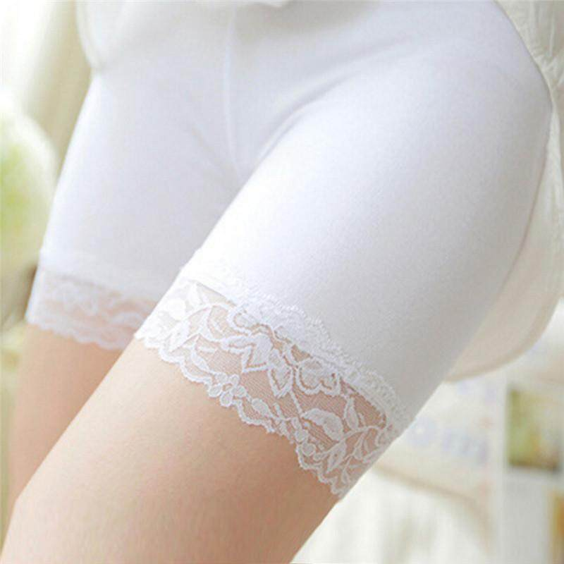 2017 Womens Safety Shorts Soft Lace Seamless Breathable Leggings Pants Shorts