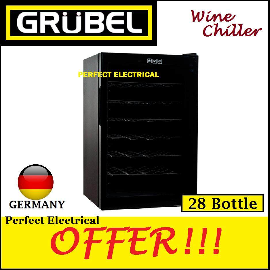 Grubel Wine Chiller Gwc-Tp28bk - 28 Bottles By Perfect Electrical Store.