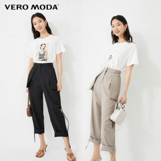 Vero Moda Quần Cắt Gấu Thẳng Cạp Cao Cho Nữ, 32026J527 thumbnail