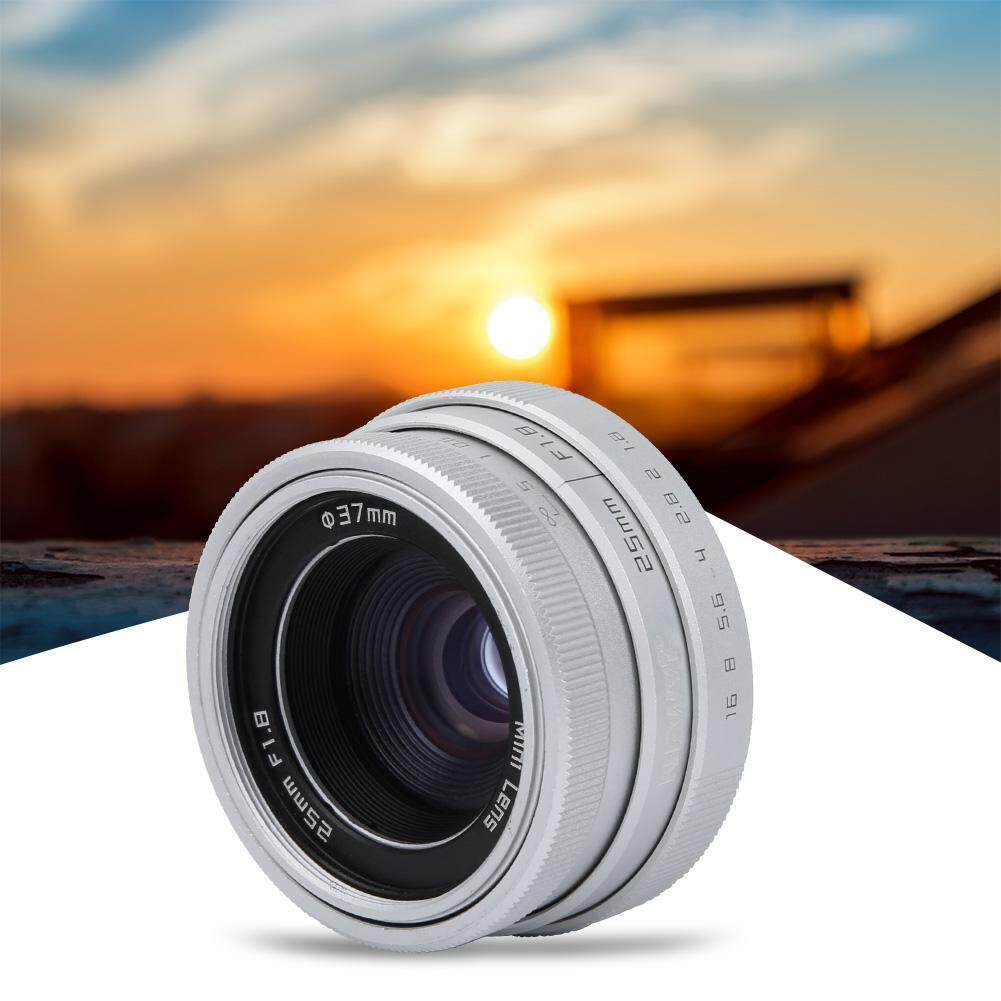 Giá duoqiao 【New year promotion】25mm F1.8 Mini CAMERA QUAN SÁT C Gắn Ống Kính Góc Rộng cho Sony Nikon Canon DSLR