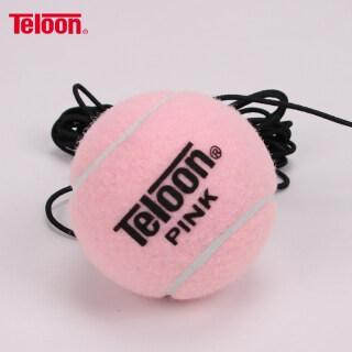 TELOON Bóng Tập Tennis Đơn Màu Hồng Tianlong Bằng Dây Thừng, Dây Đàn Hồi Dày 4 Mét Chống Tennis thumbnail