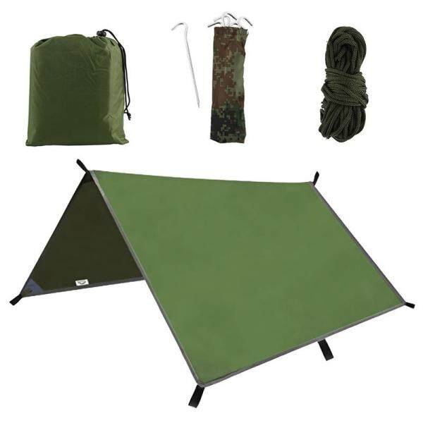 【GrocGoods】300cmx300cm Tent Awning Beach Awning Tarpaulin Outdoor Camping Hammock Rain 3m Ultra Light Uv