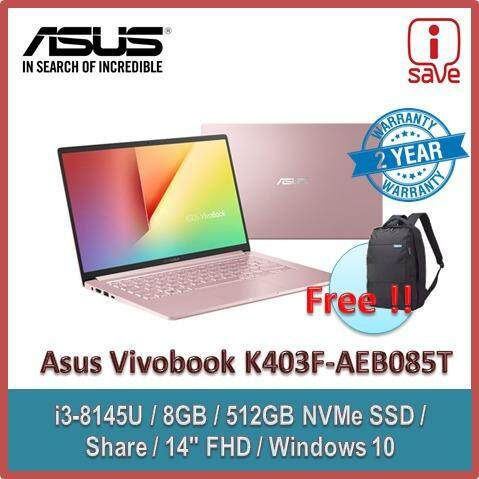 Asus K403F-AEB085T 14 FHD Laptop Petal Pink ( I3-8145U, 8GB, 512GB SSD, Intel, W10 ) Malaysia