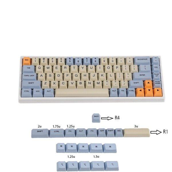 YMDK Blue Beige Orange Dye Sub 64 68 Minila Keyset Thick PBT OEM Profile Keycap For Filco Minila YD60M XD64 GK64 Tada68