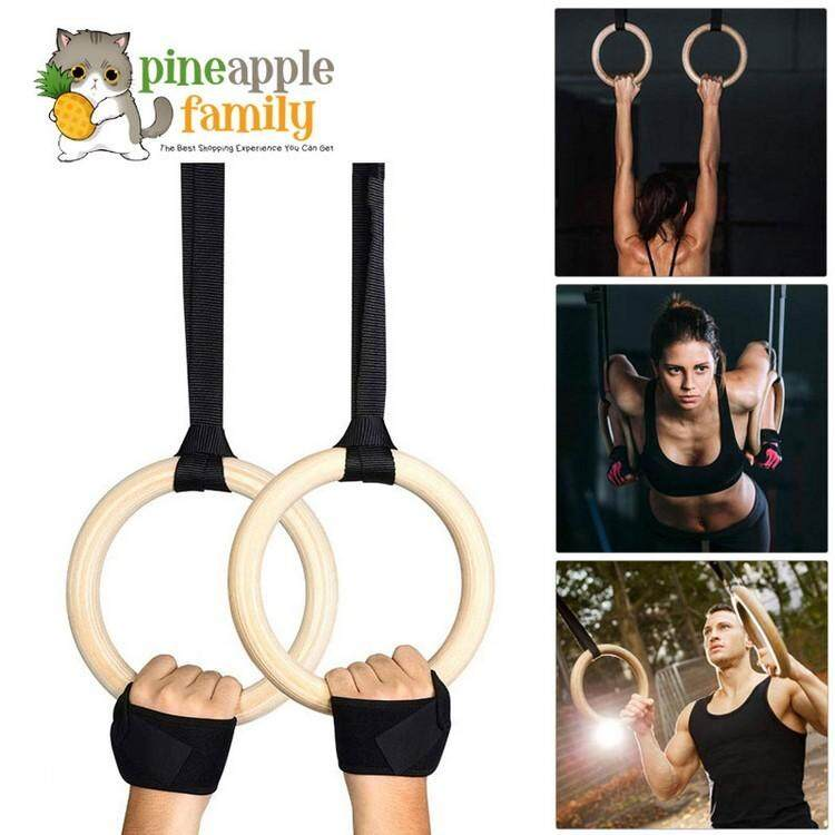 1 Pair ABS Gymnastic Ring Olympic Strength Training Gym Rings Crossfit Pull Up