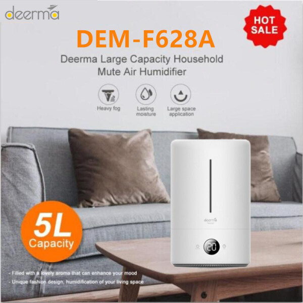 Original Deerma 5L Air Humidifier Household Ultrasonic Diffuser Humidifier Aromatherapy Humificador For Office Home F628 F628S F628A Singapore