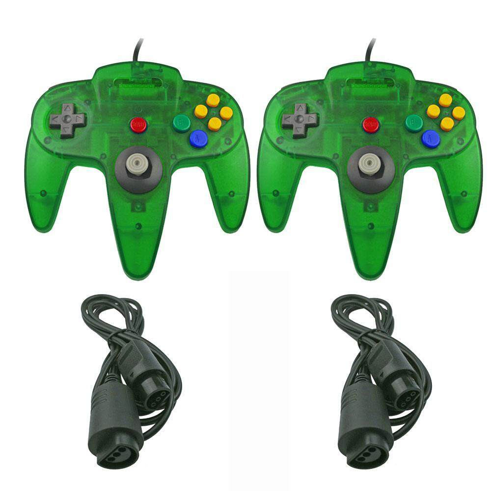 Niceeshop 2 Pack N64 Controller, Innext Classic Wired N64 64-Bit Game Pad Joystick For Ultra 64 Video Game Console N64 System Mario Kart (black) By Nicee Shop.