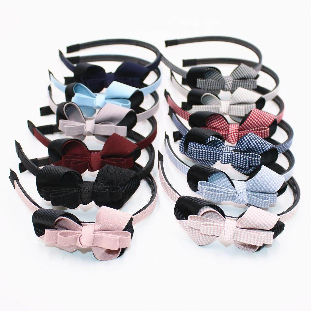 Giá bán Ribbon Bowknot Girls Hairbands Quadrille Stars Pots Kids Hair Bow Headband Headwear Party Hair Accessories