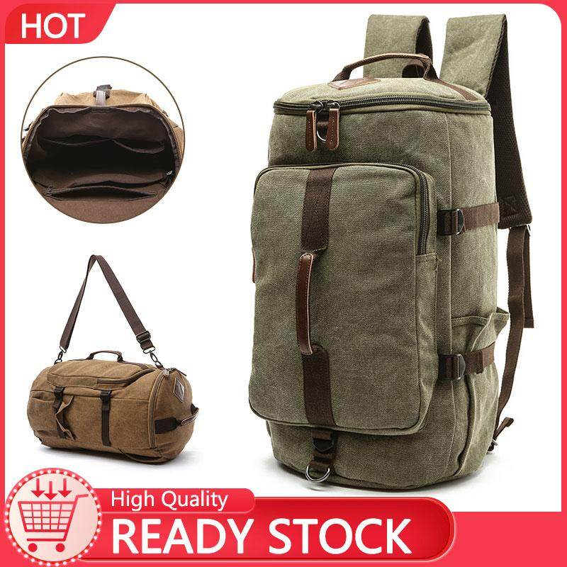 Johnn Fashion backpacks Vertical square European and American style travel  canvas bag Outdoor large capacity round dd62894e910ee